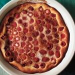 Baked Raspberry Custard