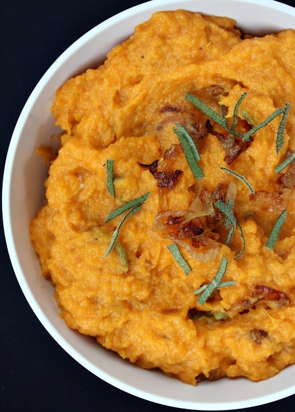 Mashed Sweet Potatoes With Caramelized Onions, Brie And Sage ...