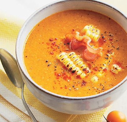 Roasted Tomato-and-Corn Soup