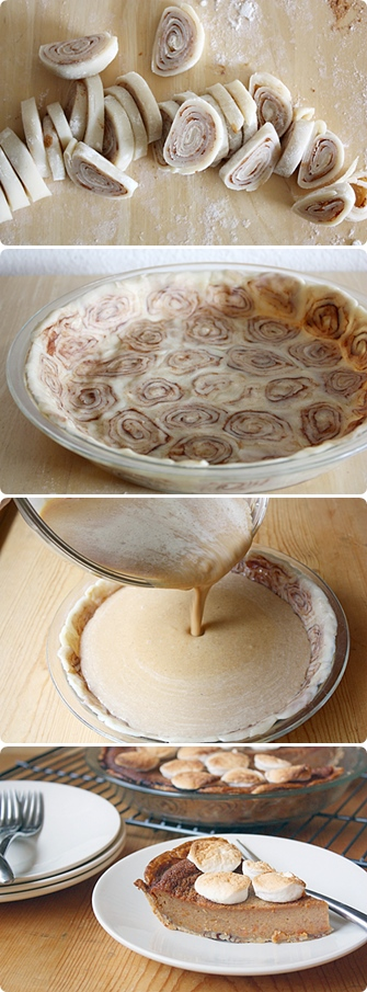 Sweet Potato Pie with Cinnamon Roll Crust – Passion for cooking