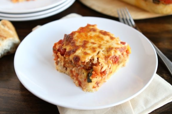 ... except that the lasagna layers are replaced with polenta. Delicious