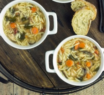 Spinach-Chicken-Orzo-Soup