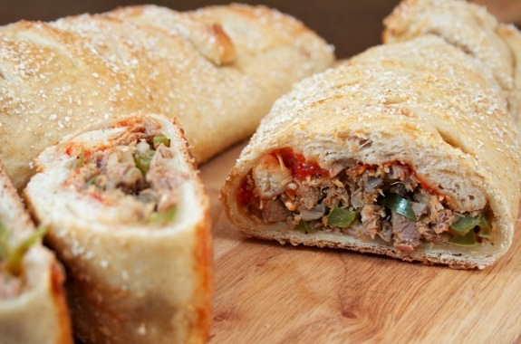Philly Steak and Cheese Stromboli