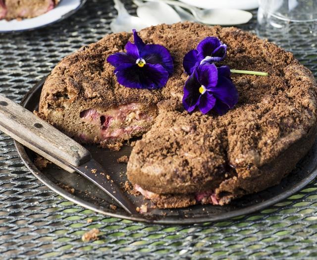 Barossa Rhubarb & Cinnamon Cake
