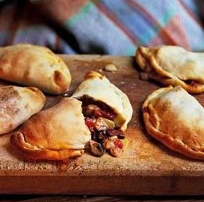 Mini mushroom, artichoke and olive calzones recipe