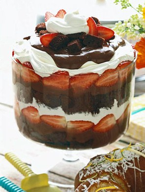 chocolate strawberry shortcake